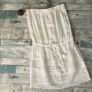 NEW W/O Tags Vinyard Vines White Eyelet Tube Dress